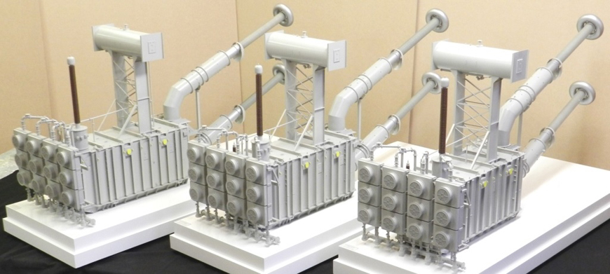 Three Industrial Transformer Models – 1:20 Scale