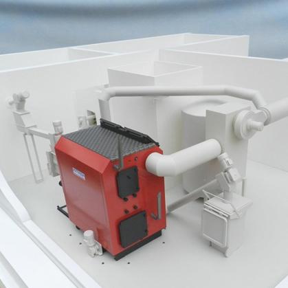 Biogas Boiler Model – Scale 1:50