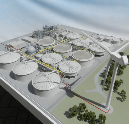 GSK Biogas Waste Treatment Plant – 1:200 Scale