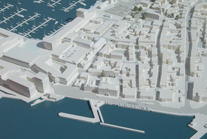 Block Model for Proposed Harbour Redevelopment – Scale 1.750