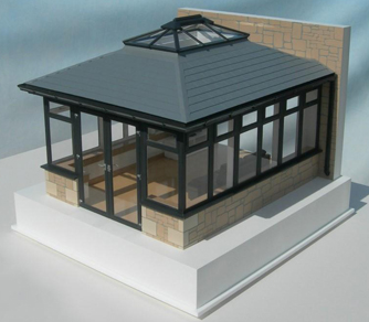 1:15 Scale Conservatory Sunroom Model
