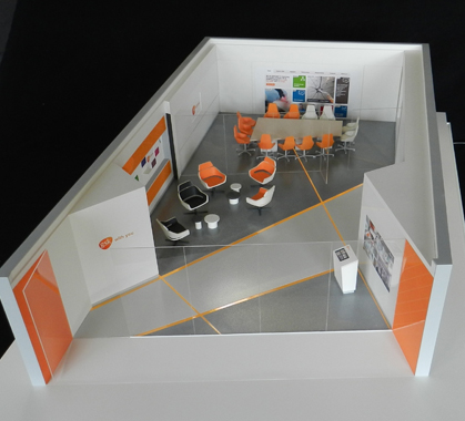 1:20 Scale Exhibition Space for GSK