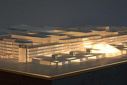 Hospital Massing Model - Scale 1:500