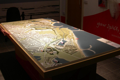 Llanelli Waterside Masterplan Model