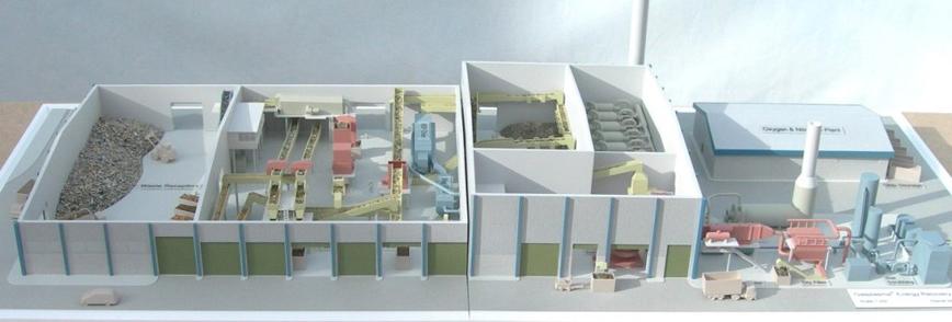 Plasma Power Station Model