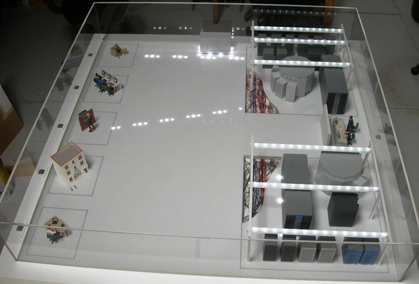 1:25 Scale Model of Data Centre for International Bank