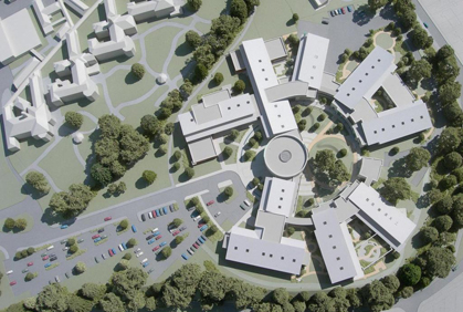 Site Model for New Hospital