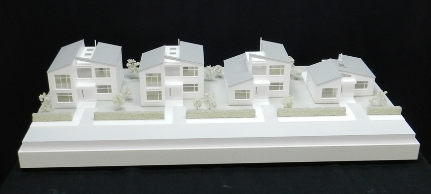 1:50 Scale White Styled Street Scene