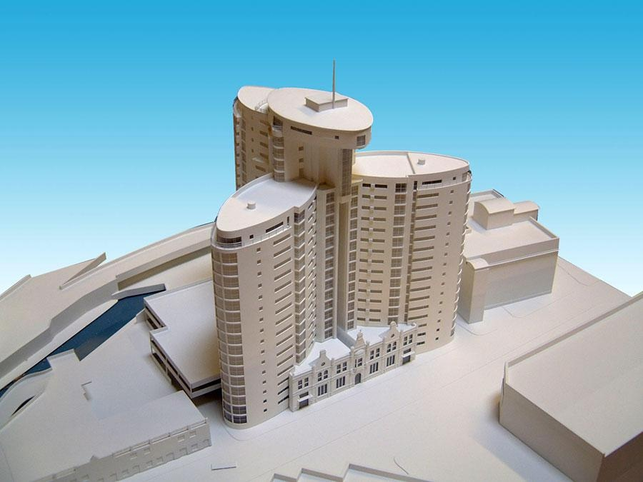 White architectural models from modelmakers uk for Model apartments